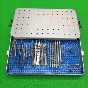 Image 3 - 21 sztuk/zestaw okulistyczna zaćmy oka mikro chirurgia instrumenty chirurgiczne z pudełkiem