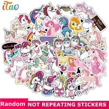 10 20 30 40 50PCS Pack Cartoon Animal Unicorn Sticker Waterproof PVC Snowboard Guitar Laptop Skateboard