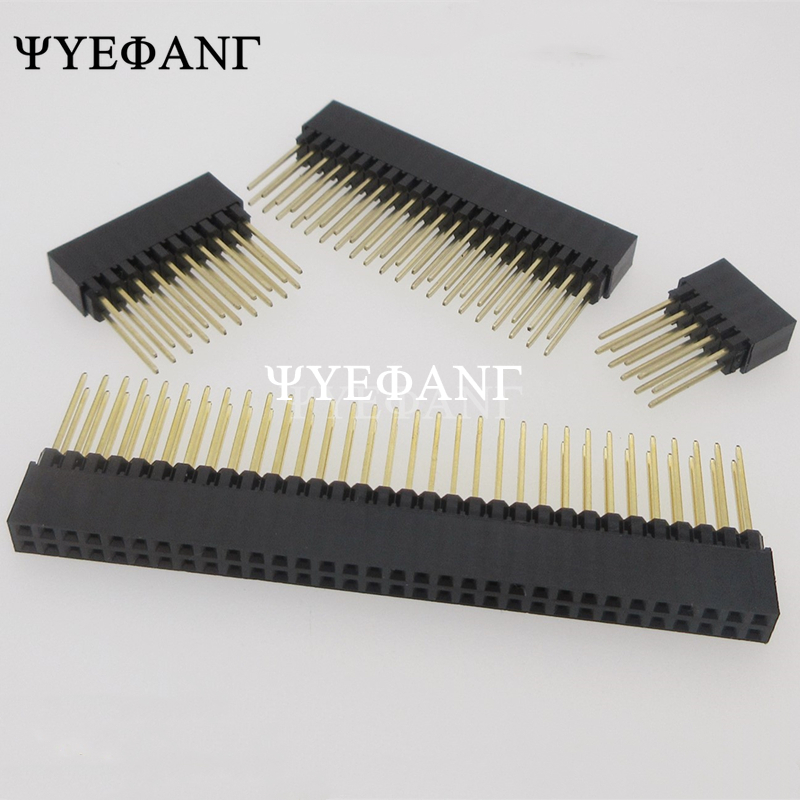 1 Piece 2.54mm 2x10P/16P/20P/25P/32P/40 Pin Female Stacking Header Connector Dual Row 2x20P PC104 For Raspberry Pi 2 Mode