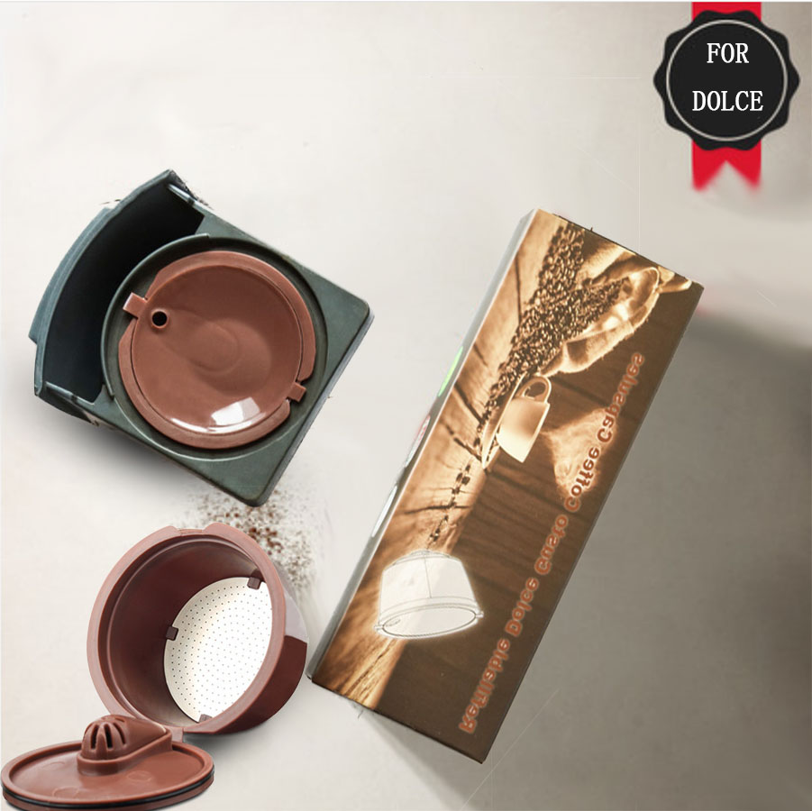 3. Crema/normalna wersja wielokrotnego użytku do kapsułka kawy dolce gusto Dolci Nescafe maszyna filtr do kawy wielokrotnego użytku