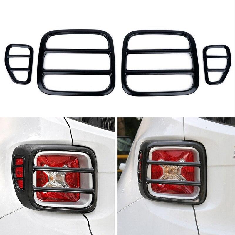 Araba Styling dış aksesuarları Metal araba arka kuyruk işık lambası koruma kapağı dekorasyon çıkartması için Jeep Renegade 2015 Up