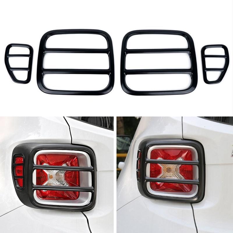 Auto Styling Außen Zubehör Metall Auto Hinten Schwanz Licht Lampe Schutz Abdeckung Dekoration Aufkleber für Jeep Renegade 2015 Up