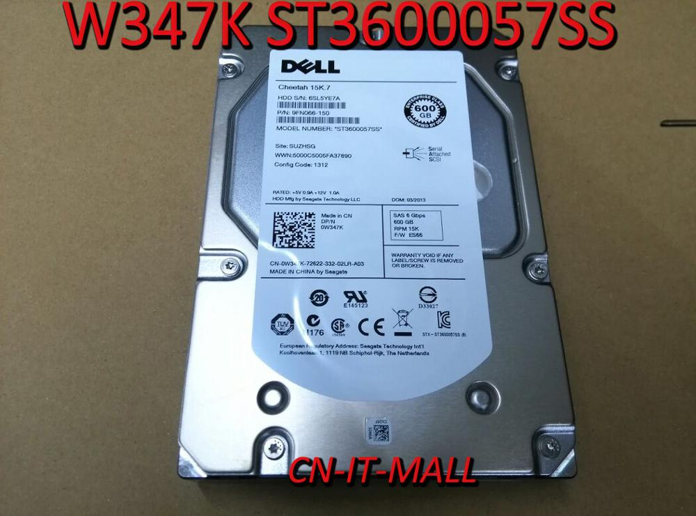"New W347K 0W347K ST3600057SS 600GB 6G 15K 3.5"" SAS HDD"