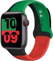 Cinturino in Silicone per cinturino Apple Watch 44mm 40mm 38mm 42mm nero unità/Prid smartwatch cinturino cinturino iWatch 3 4 5 6 se