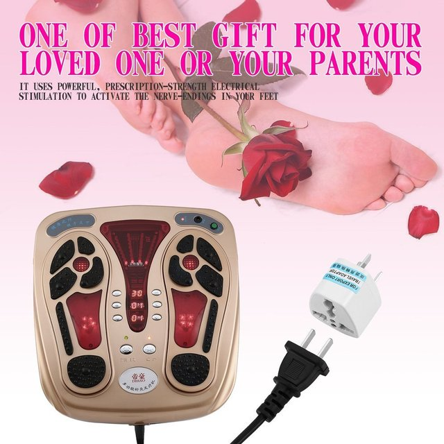 Multifunctional body health care foot massaging device electromagnetic infrared wave pulse foot massager us/uk/au/eu plug