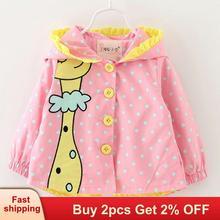 Mayfair Cabin Girls Coat Baby Clothes cartoon Coats dot hooded Children Outerwea