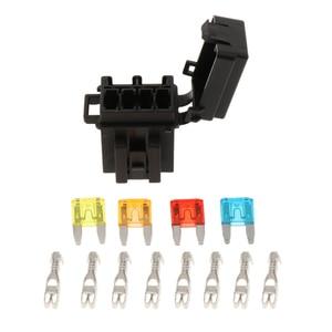Automotive 4 Way Fuse Holder Box + 1 Rel
