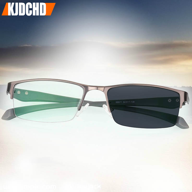 Photochromic Sunglasses Chameleon Lens Blue Light Blocking Men's Glasses for Computer Eyeglasses Gaming Protection Blue Ray image