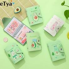 eTya 20 Bits Credit Card Holder Wallet Cartoon Cute Women Girls PU Leather Passport Business ID Bank Purse Bag Pouch Case