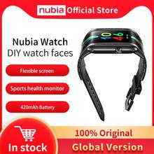 100% оригинальные часы глобальная версия Nubia 4,01 дюйма AMOLED Складной Гибкий Snapdragon 8909 Вт 1 ГБ 8 ГБ сотовый телефон Nubia Watch phone