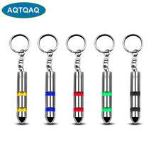 AQTQAQ 1 pièces mode haute tension antistatique porte-clés voiture statique éliminateur de corps déchargeur porte-clés émetteur de LED