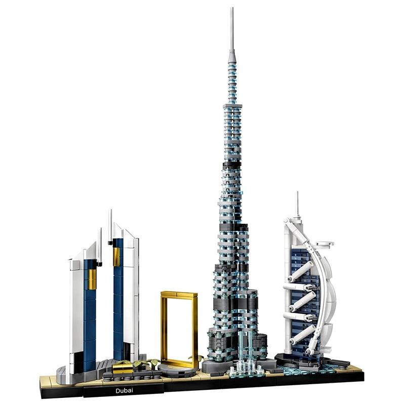 New 2020 Architecture Skyline Collection Dubai City Building Blocks Kit Bricks Classic Model Kids Toys For Children Gift