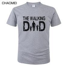 O pai andando t camisa homem engraçado pais dia presente idéias t-shirtnew 2019 verão quente algodão manga curta legal topos t c80
