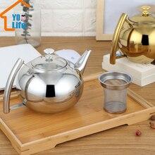 304 л/2л толще нержавеющая сталь чайник для воды отель чайник с фильтром отель кофейник индукционная плита для ресторанов чайник
