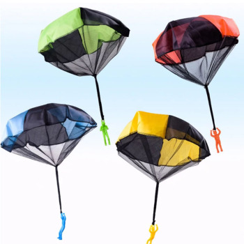 Mini Hand Throwing Soldier Warrior Parachute Funny Toy Kid Outdoor Game Educational Toy Fly Parachute Sports For Children Toys image