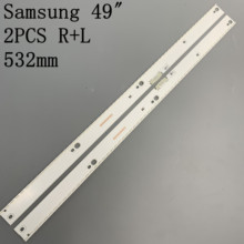 1 סט = 2pcs רצועת תאורת LED האחורית לסמסונג UE49KU6500 UE49MU6450 UE49MU6500 BN96 39673A 39674A BN96 39671A 39672A 39882A 39880A