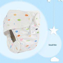 Хлопок ребенок подгузники подгузник многоразовые моющиеся ткань подгузники подгузник чехол водонепроницаемый новорожденный ребенок тренировка трусики подгузники карман