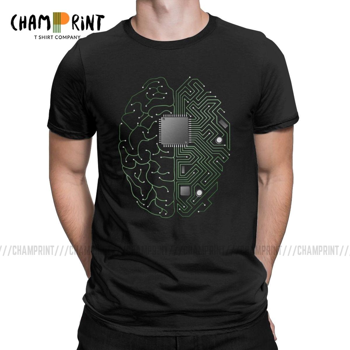 Computer CPU Core Heart T-Shirt Men/'s GEEK Nerd Freak Hacker PC Gamer Tee Summer