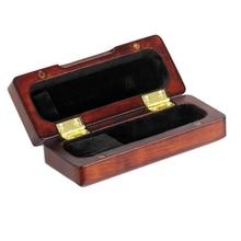 Деревянный Саксофон альт саксофон держатель для мундштука чехол ящик из твердой древесины