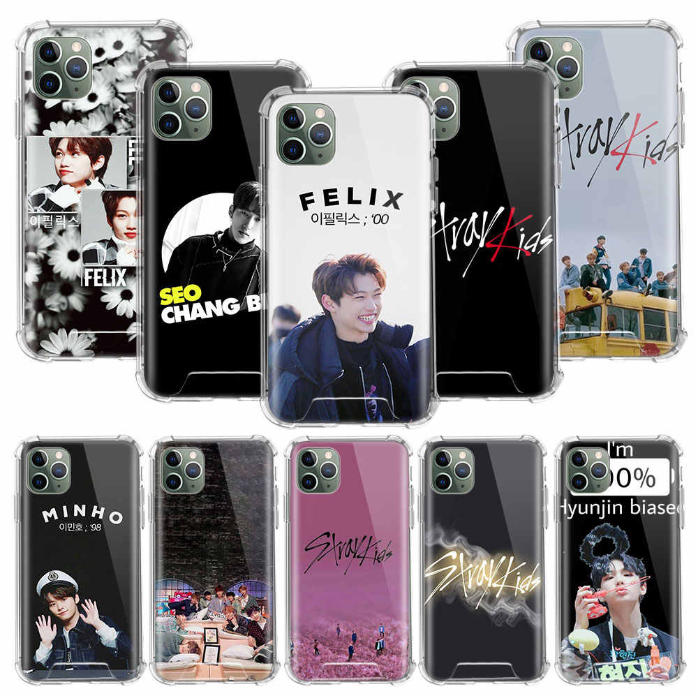 Kpop Stray Kids Case For Apple iphone 11 Pro Max XS XR X 8 7 6 6S Plus Clear Soft Airbag Anti Carcasa Phone Coque