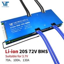 20s 72vリチウム電池 3.7v電源保護ボード温度保護イコライゼーション機能、過電流保護bms pcb