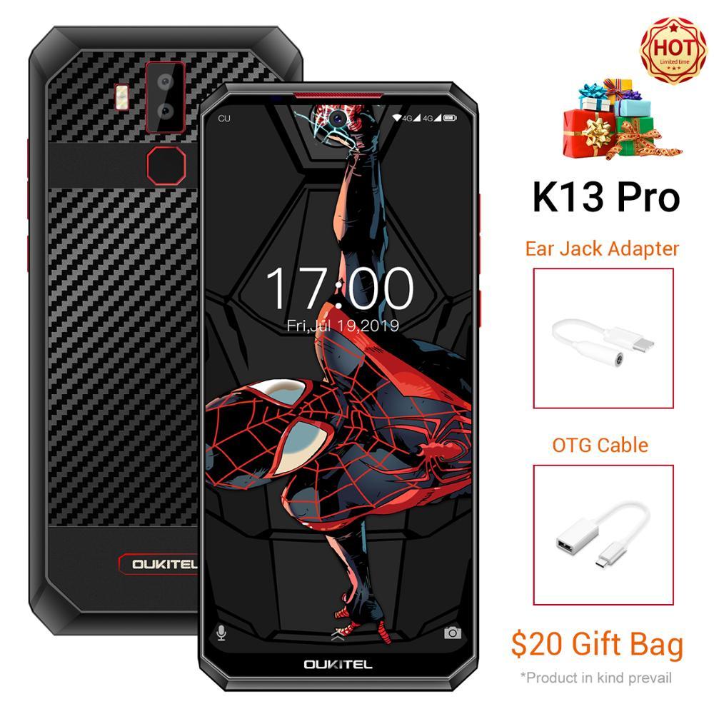 OUKITEL K13 Pro Smartphone Android 9.0 5V/6A 11000mAh 6.41 inch Octa Core 4G RAM 64G ROM  OTA Fingerprint NFC 4G Mobile Phone|Cellphones| |  - title=