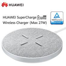 Суперзарядное Беспроводное зарядное устройство HUAWEI CP61, макс. 27 Вт, Smart, HUAWEI Mate 20, 30 Pro, RS, совместимо с IPhone, Samsung, Xiaomi