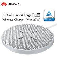 HUAWEI CP61 Super Charge Draadloze Oplader Max 27W Smart HUAWEI Mate 20 30 Pro RS Compatibel voor IPhone Samsung voor Xiaomi