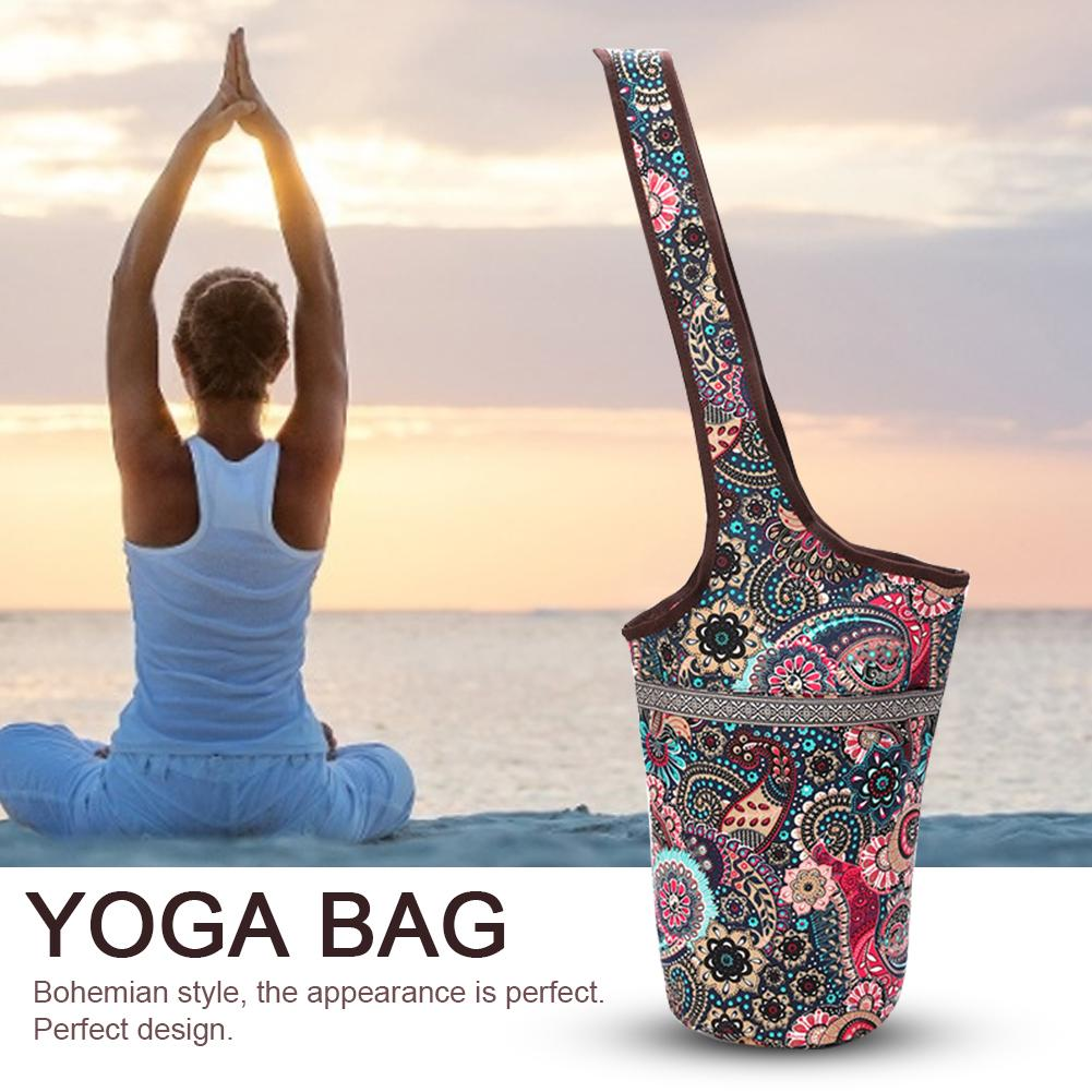 Fashion Yoga Mat Bag Casual Fashion Canvas Yoga Bag Backpack Fit Most Size Mats Yoga Mat Tote Sling Carrier High Quality //