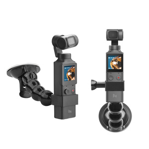 Image 2 - 2in1 Adjustable Car Suction Cup Mount Holder & Expansion Adapter Mount For FIMI PALM Handheld Camera Car Holder Accessories