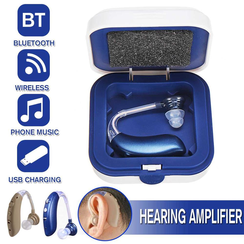 2020 best Bluetooth Audifonos Hearing Aid Digital Sound Amplifier Air Conduction Wireless for Deaf Elderly Ear Care Hearing Aids