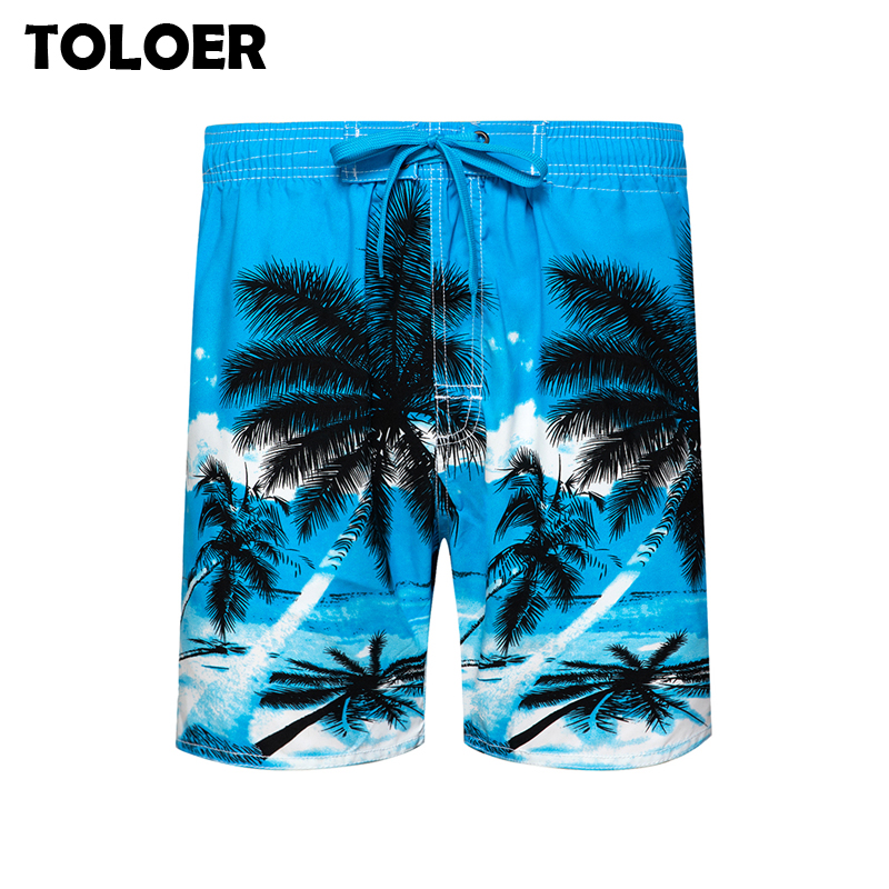 Men''s Surf Board Shorts Surfing Quick Dry Plant Printed Swimming Beach Trunks Shorts Male Bermudas Masculina Swimwear Plus Size
