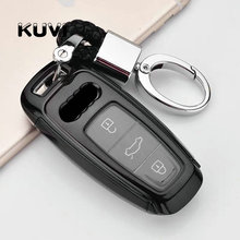 Hight quality PC+TPU key case cover Key protective shell holder For AUDI A4L A6L A7 A5 A8 Q5 2019 year