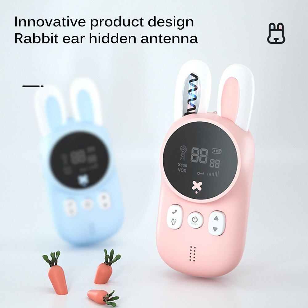 2 шт./компл. Портативный ручной детская иди и болтай Walkie Talkie S игрушки для детей симпатичный кролик иди и болтай Walkie ручной говорить родитель-...