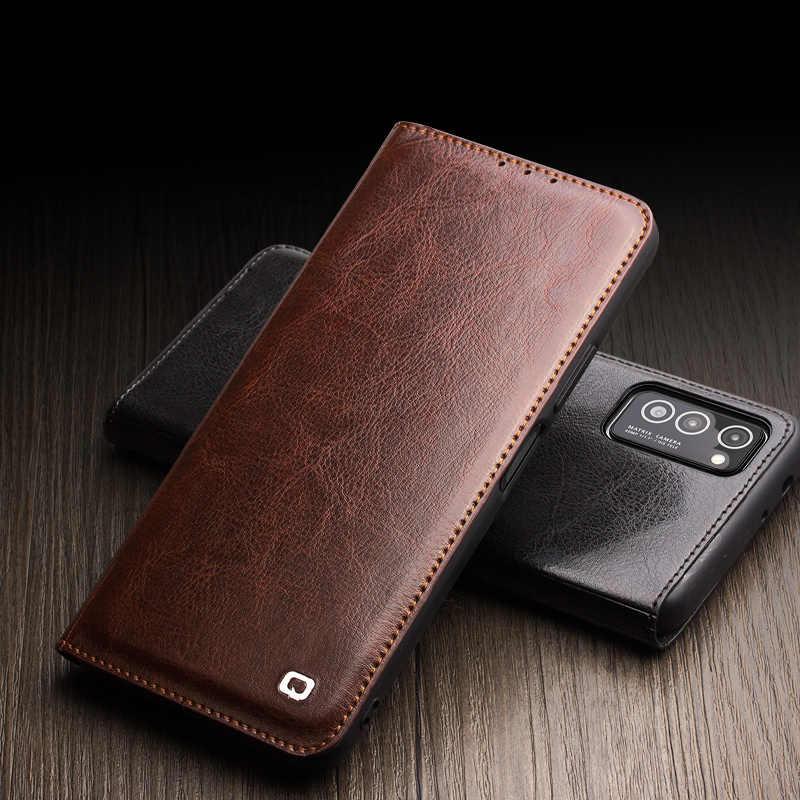 עבור Huawei Honor צפה 30 View30 פרו QIALINO מותג טבעי עגל עור פרה אמיתי עור מקרה טלפון Flip כיסוי רטרו עסקים