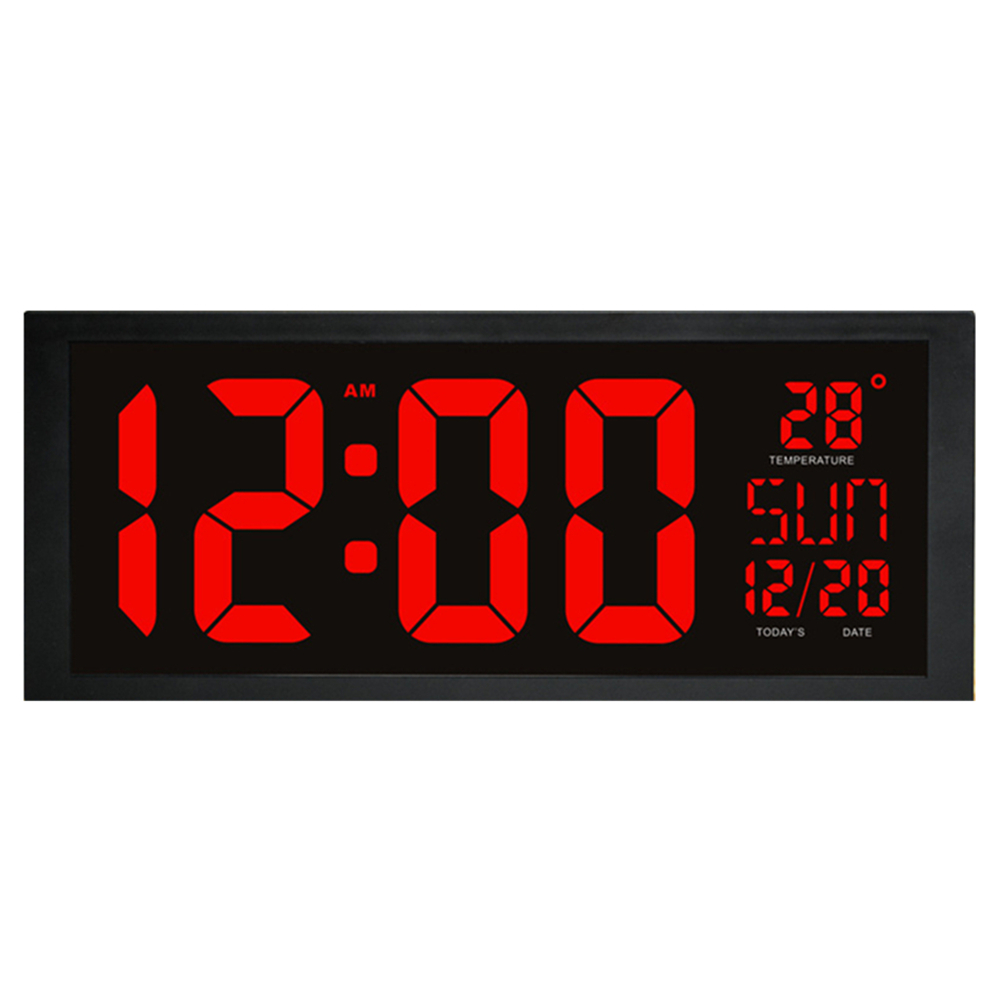 HD LED Large Screen Wall Clock Home Desktop Calendar Clock Daylight Saving Time Function LED Electronic Clock With Thermometer