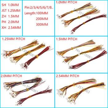 10 шт. 1,0 1,25 1,5 2,0 2,54 SH/JST/ж/устройство контроля pН/XH 1,0 ММ 1,25 мм 1,5 мм 2,0 мм 2,54 мм гнездовой разъем с проводом 2/3/4/5/6/7/8/P Pin