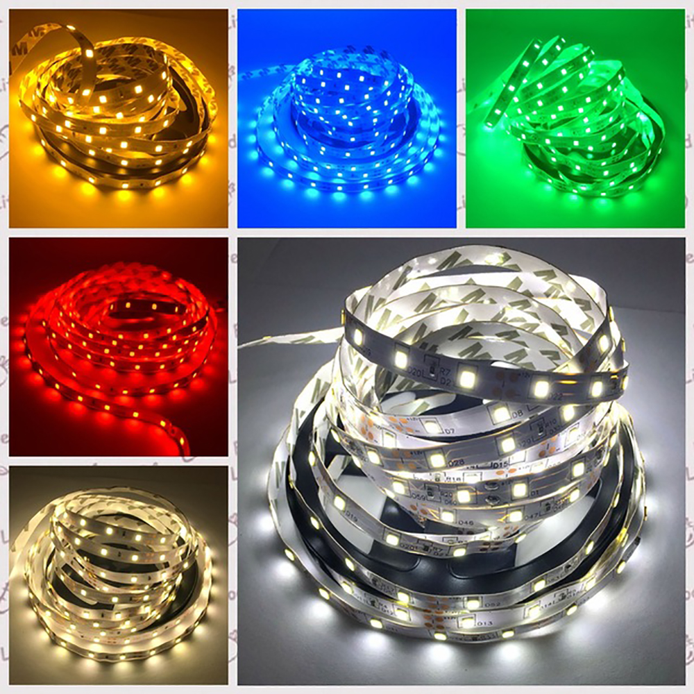 H35f72356119b4a58ac5f58c0d2710ba5z 5M 300 LED Strip Light Non Waterproof DC12V Ribbon Tape Brighter SMD3528 Cold White/Warm White/Ice Blue/Red/Green/blue