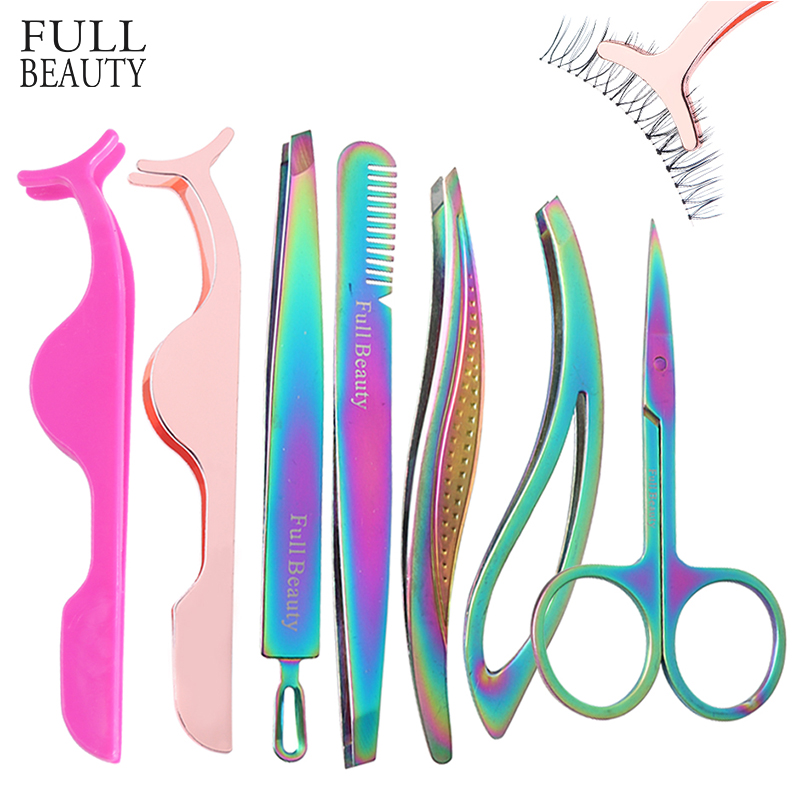 1pcs Eyelash Tweezers Clip Applicator All For Extension Rose Gold False Eyelashes Curler Clamp Beauty Auxiliary Tools CHND058-1