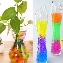 500pcs/5bag Colorful Pearl Gel Ball Polymer Hydrogel Crystal Mud Soil Water Beads Grow Magic Jelly Wedding Home Party Decoration