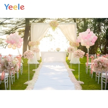 Yeele Wedding Ceremony Flowers Road Curtain Balloon Photography Backdrops Personalized Photographic Backgrounds For Photo Studio