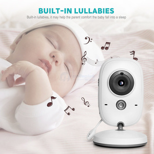 Image 3 - אלחוטי 2.0 אינץ וידאו צבע תינוק צג אבטחת מצלמה תינוק נני אינטרקום ראיית לילה טמפרטורת ניטור VB602