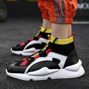 Image 3 - New spring and autumn winter mens high shoes outdoor shoes breathable sweat absorbent lightweight increase shoes wear shoes