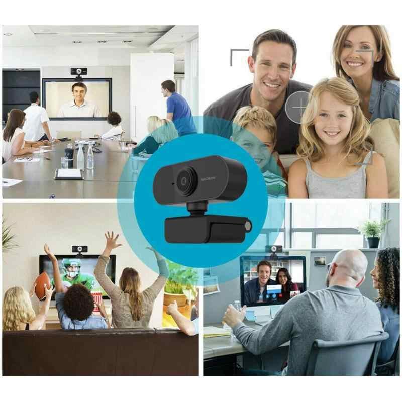 2020 USB2.0 Web Camera 1080P HD Tự Động Lấy Nét Máy Tính Camera Webcam Tích Giảm Âm Micro Năng Động độ Phân Giải