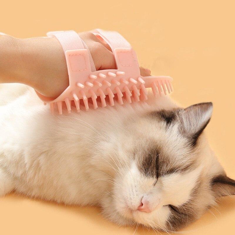 Силиконовая щетка для кошек угловая Массажная саморасческа расческа