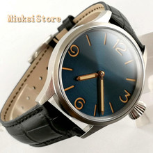 43mm Sterile Classic Luxury sapphire glass blue dial luminous hands crystal hand winding waterpoof m