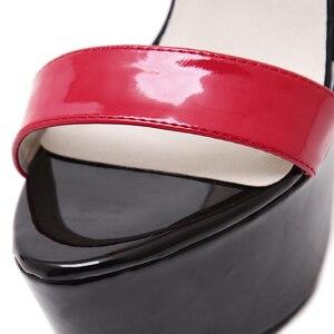 Image 5 - Plus Size Platform Sandals High Heels Summer Sandals For Ladies Open Toe High Heels Platform Sandals Sexy Party Wedding Heels
