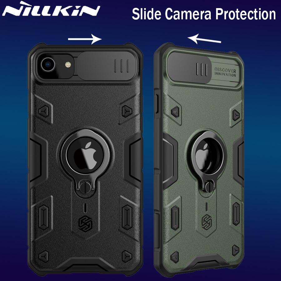 NILLKIN for Xiaomi Redmi Note 9 Pro Max 9s Mi 10 Lite Case Casing for iPhone 11 Pro Max 8 7 SE Slide Camera Lens Protect Case