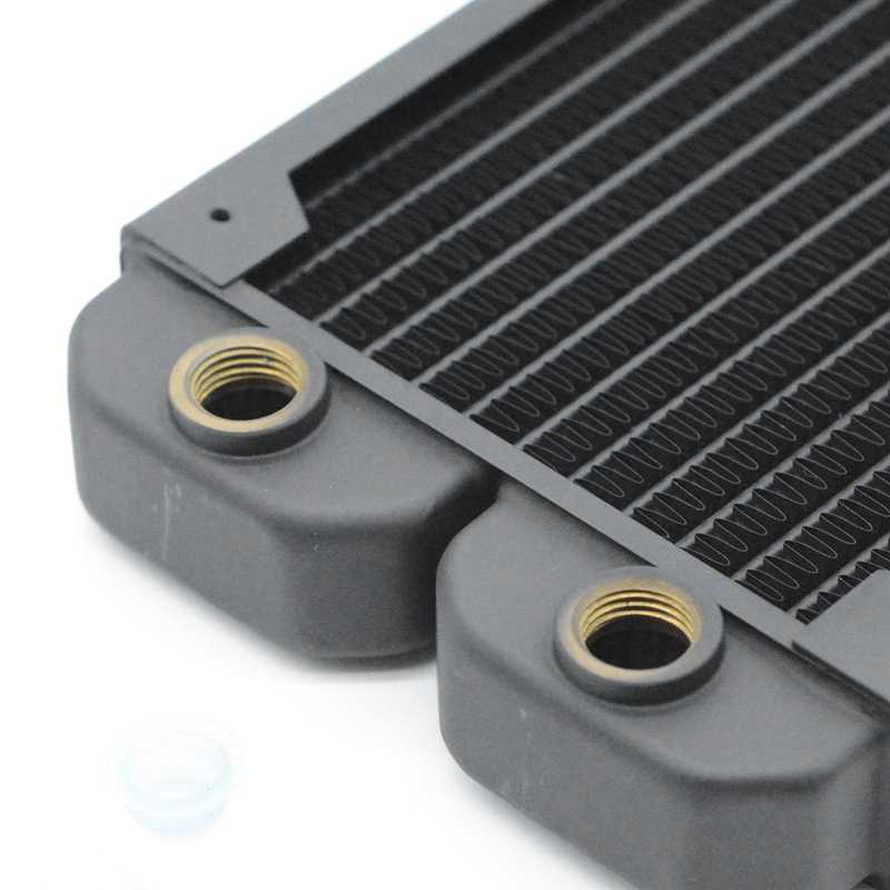 FREEZEMOD TSRP-TW240 240mm מחשב מים קירור נחושת רדיאטור 14 שטוח צינור שכבה אחת נחושת סנפיר עבור 12cm מאוורר עבור מעבד חום