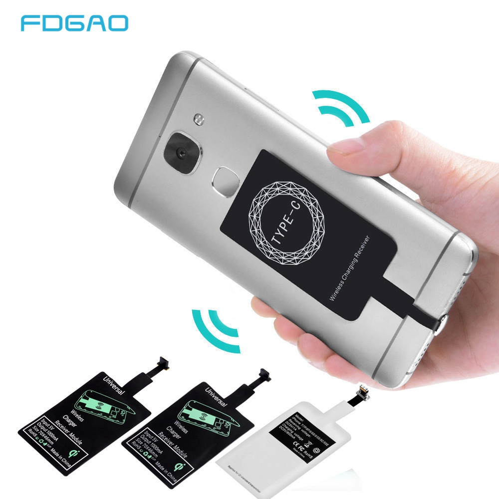 QI Wireless Charger Receiver For iPhone 5 5s 5C SE 7 6s 6 Plus Universal Charging USB Micro USB Type-c Phone for Smausng Xiaomi